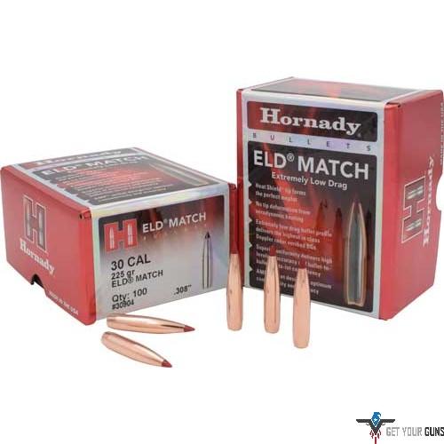 Hornady | HORNADY BULLETS 30CAL  308 225GR  ELD-MATCH 100CT