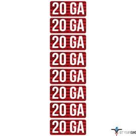 MTM AMMO CALIBER LABELS 20GA 8-PACK