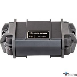 "PELICAN RUCK CASE MEDIUM R20 W/DIVIDER BLK ID 7.1""X3.4""X2"""