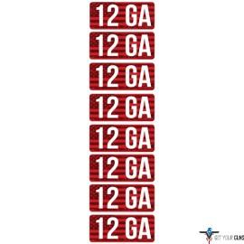MTM AMMO CALIBER LABELS 12GA 8-PACK