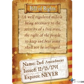 """RIVERS EDGE SIGN 12""""x17"""" """"BILL OF RIGHTS"""""""