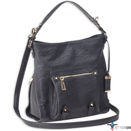 BULLDOG CONCEALED CARRY PURSE HOBO ANNA BLACK