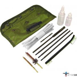 PSP CLEANING KIT AR15/M16 GI FIELD OD GREEN POUCH