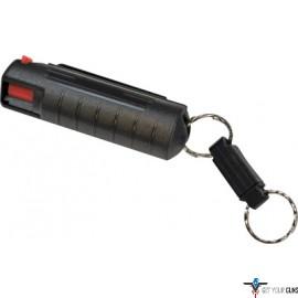 PSP PEPPER SPRAY w/ BLACK HARD CASE W/QR KEY RING 1/2 OZ.