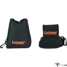 LYMAN CROSSHAIR SHOOTING BAG COMBO FRONT & REAR BLACK NYLON