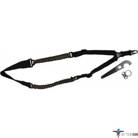 TOC TACTICAL PARACORD SLING w/ ADAPTER & WRENCH SINGLE PT