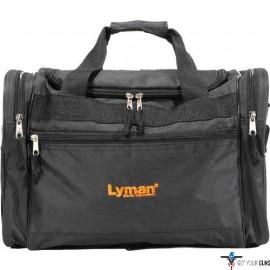 LYMAN HANDGUN RANGE BAG BLACK NYLON W/CARRY STRAP