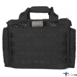 GPS TACTICAL RANGE BAG W/ FOAM CRADLES FOR 5 GUNS BLACK