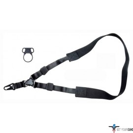 TOC TACTICAL SLING SINGLE POINT W/ADAPTER BLACK