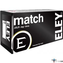 ELEY MATCH 22LR 40GR. EPS 50 PACK