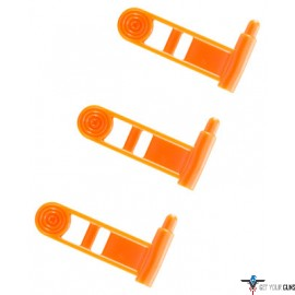 ERGO GRIP CHAMBER SAFETY FLAG FOR PISTOL ORANGE 3-PK