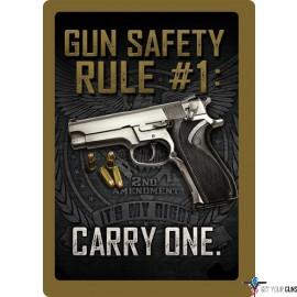 "RIVERS EDGE SIGN 12""x17"" ""GUN SAFETY"""