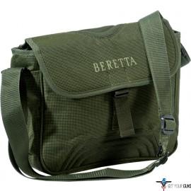 """BERETTA B-WILD CARTRIDGE/FIELD BAG 11""""X10.5""""X3"""" NYLON GREEN"""