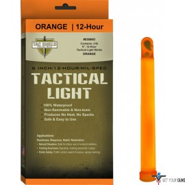 "TAC SHIELD TACTICAL LIGHT STICK 12 HOUR 6"" ORANGE 10PK"