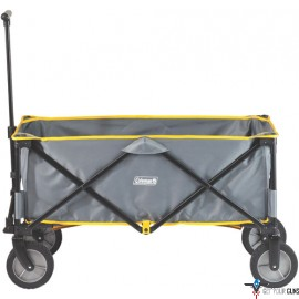 COLEMAN FOLDING CAMP WAGON W/ WHEELS GRAY/BLACK/YELLOW TRIM