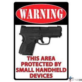"""RIVERS EDGE SIGN 12""""x17"""" WARNING-THIS AREA IS PROTECTED"""