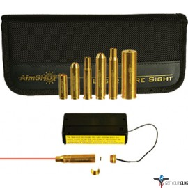 AIMSHOT BORE SIGHT .223 20X W/ TOP 6 RIFLE CAL ARBORS