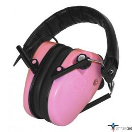 CALDWELL E-MAX EAR MUFF LOW PROFILE ELECTRONIC PINK