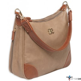 BULLDOG CONCEALED CARRY PURSE HOBO STYLE TAUPE W/TAN TRIM