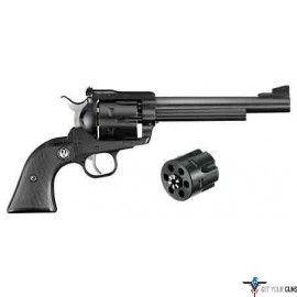 "RUGER BLACKHAWK CONVERTIBLE .357/9MM 6.5"" AS BLUED BLK SYN"