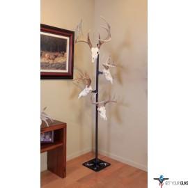 SKULL HOOKER TROPHY TREE W/ 5 BRACKETS CUSTOMIZABLE DISPLAY