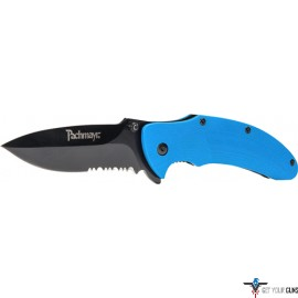 "PACHMAYR G10 FOLDING KNIFE 3"" SERRATED S/S BLUE G10"