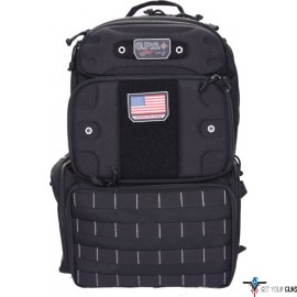 GPS TACTICAL RANGE BACKPACK TALL W/WAIST STRAP BLACK NYLON