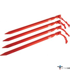 """COLEMAN 9"""" HEAVY DUTY ALUMINUM TENT STAKES 4 STAKES PER PACK"""