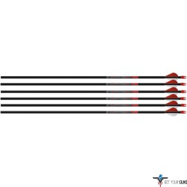 "EASTON ARROW BLOODLINE 6MM 400 W/ 2"" BLAZER VANES 6-PACK"