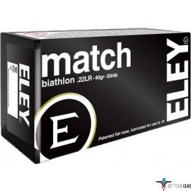 ELEY MATCH BIATHLON 22LR 40GR. EPS 50 PACK