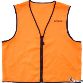 ALLEN DELUXE HUNTING VEST ORANGE LARGE 2 FRONT POCKETS