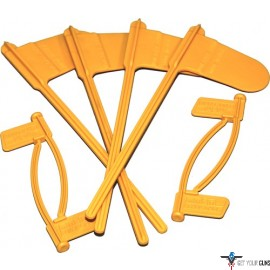 MTM PISTOL & RIFLE CHAMBER INDICATOR FLAGS 8-PACK YELLOW