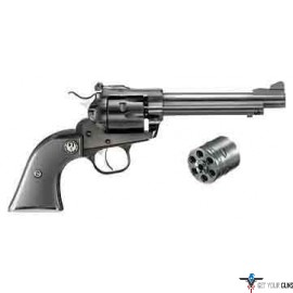 "RUGER SINGLE-SIX CONVERTIBLE .22LR/.22WMR 5.5"" AS BLUED SYN"