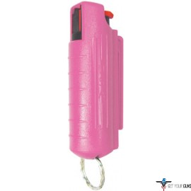 PSP PEPPER SPRAY w/ PINK HARD CASE W/ KEY RING 1/2 OZ.