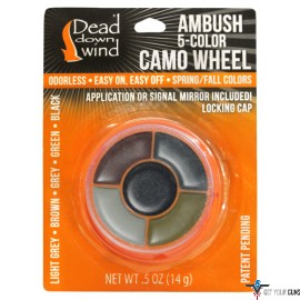 DDW CAMO FACE PAINT AMBUSH 5-COLOR WHEEL W/MIRROR