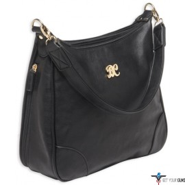 BULLDOG CONCEALED CARRY PURSE HOBO STYLE BLACK W/BLACK TRIM