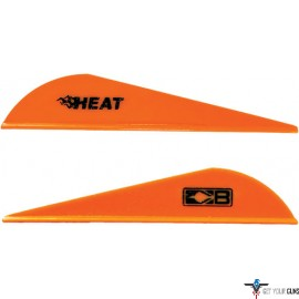 "BOHNING HEAT VANE 2.5"" SOLID NEON ORANGE 36PK"
