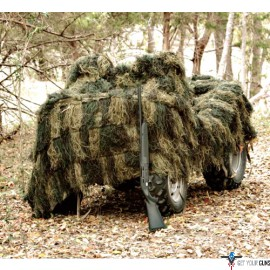RED ROCK GHILLIE BLIND 5'X12' WOODLAND CAMOUFLAGE NETTING