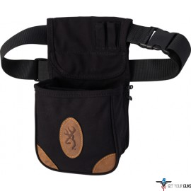 BG LONA CANVAS SHELL POUCH W/BELT BLACK/BROWN