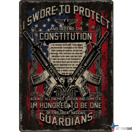 """RIVERS EDGE EMBOSSED SIGN 12""""X 17"""" GUARDIANS OF CONSTITUTION"""