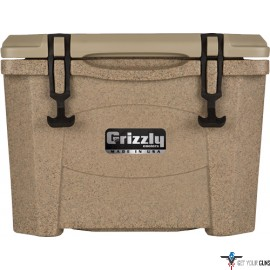 GRIZZLY COOLERS GRIZZLY G15 SANDSTONE/SANDSTONE 15QT COOLR