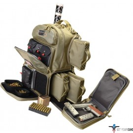 GPS TACTICAL RANGE BACKPACK TALL W/WAIST STRAP TAN NYLON