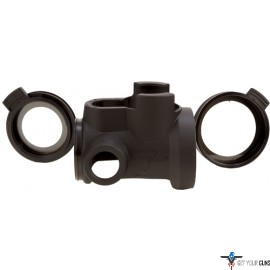 TRIJICON MRO ARMORED COVER WITH CLEAR CAPS BLACK
