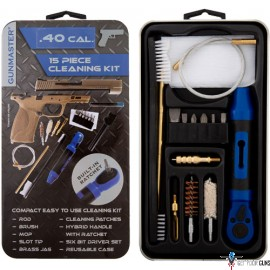 DAC GUNMASTER .40 CLEANING KIT W/RATCHET HANDLE 15PCS. METAL