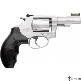"S&W 317 AIRLITE .22LR 3"" AS SS 8-SHOT HI-VIZ RUBBER"