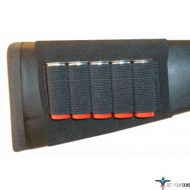 GROVTEC SHOTGUN SHELL HOLDER BUTTSTOCK SLEEVE OPEN STYLE BK