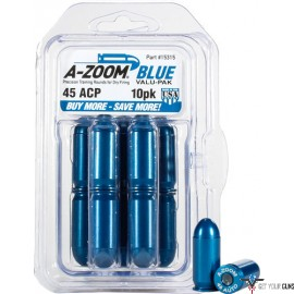 A-ZOOM METAL SNAP CAP BLUE .45ACP 10-PACK