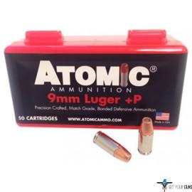ATOMIC AMMO 9MM LUGER +P 124GR. BONDED JHP 50-PACK