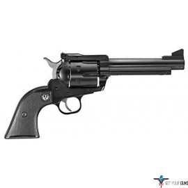 "RUGER BLACKHAWK .45LC 5.5"" AS BLUED BLACK CHECKERED SYN"
