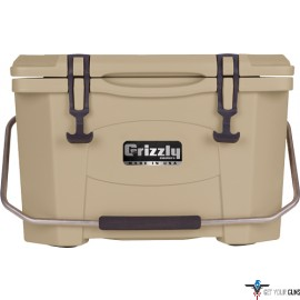 GRIZZLY COOLERS GRIZZLY G20 TAN/TAN 20 QUART COOLER